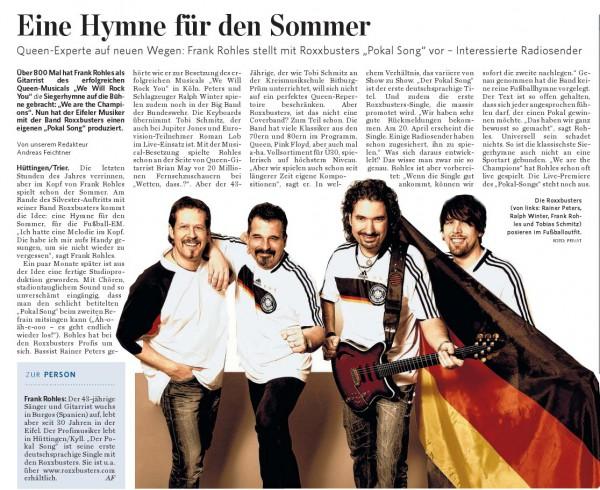 Trierischer Volksfreund am 11.04.2012